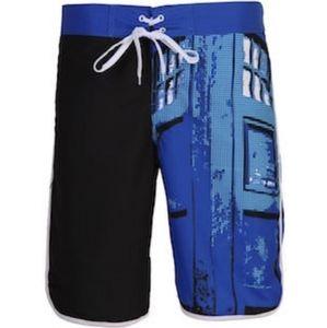 Men's Doctor Who Tardis board shorts
